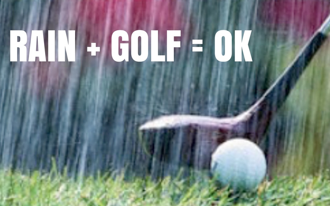 Can you play golf in the rain?